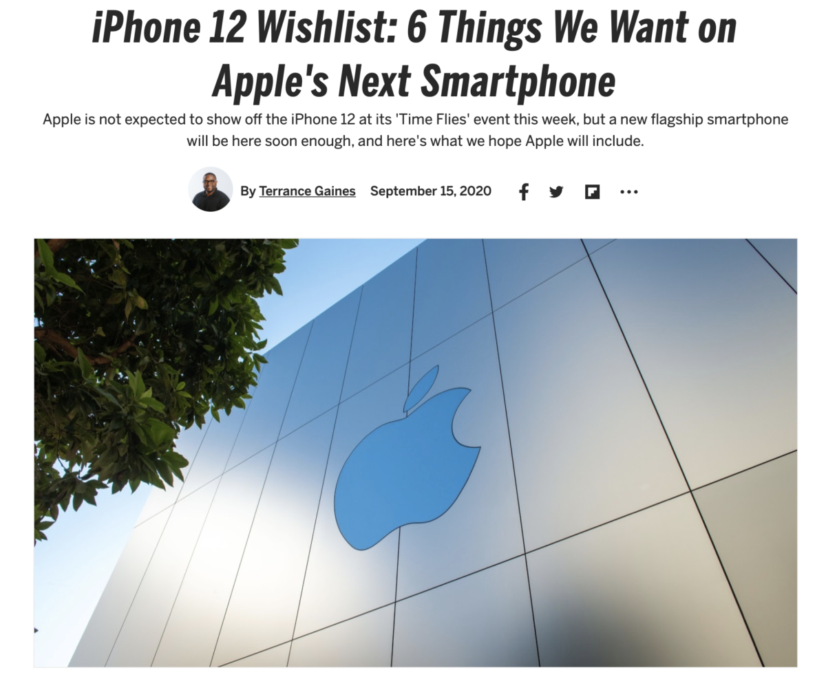 iPhone 12 Wishlist: 6 Things We Want on Apple's Next Smartphone_PCMAG